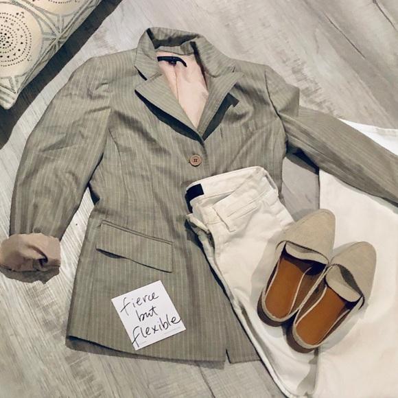 Anne Klein Jackets & Blazers - ANNE KLEIN grey pinstripe blazer size 4